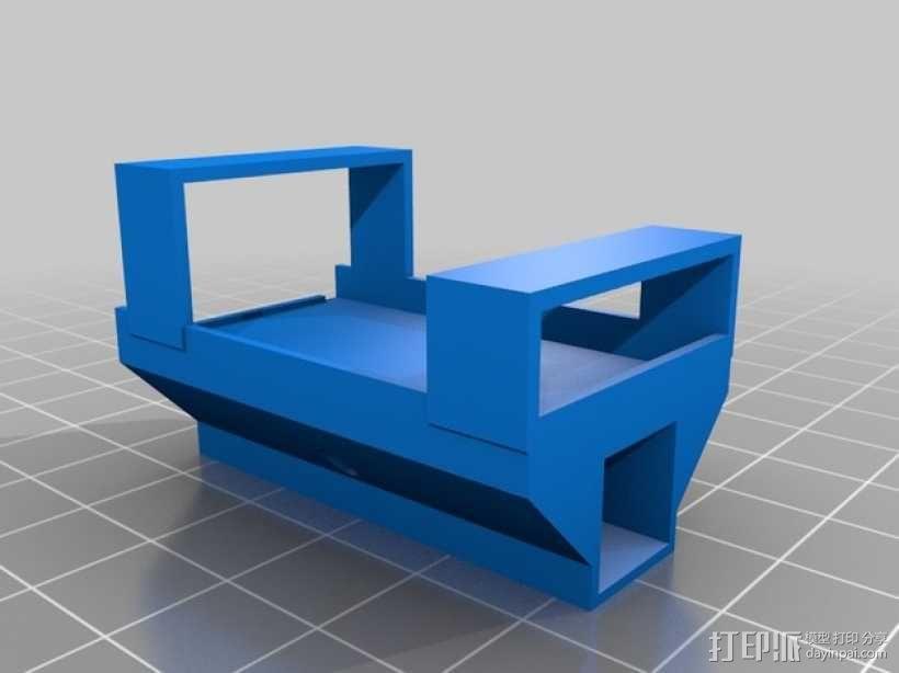 三轴飞行器零部件支架 3D模型  图1