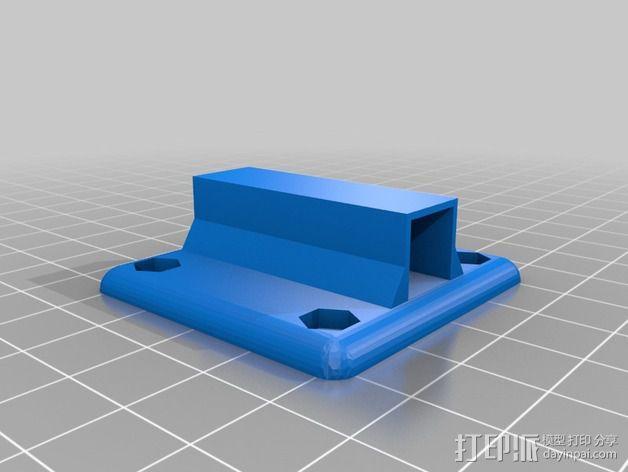 三轴飞行器零部件支架 3D模型  图5