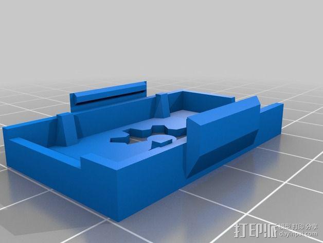 三轴飞行器零部件支架 3D模型  图4