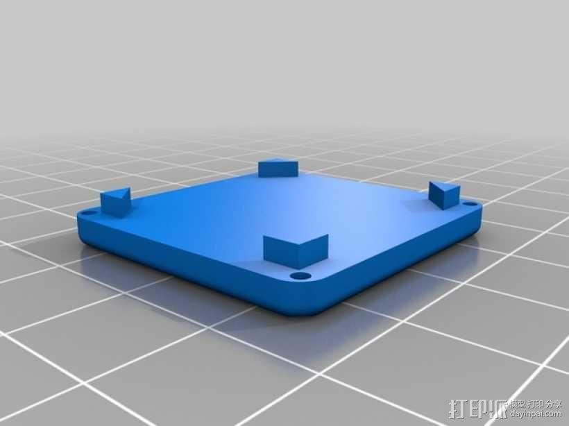树莓派电路板支架 3D模型  图3