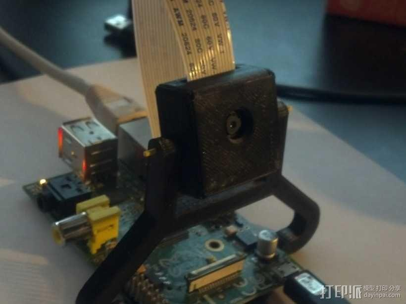 树莓派电路板支架 3D模型  图1