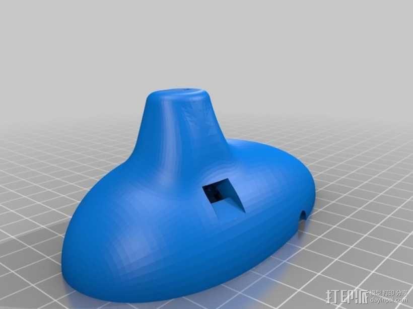卵形笛 3D模型  图2