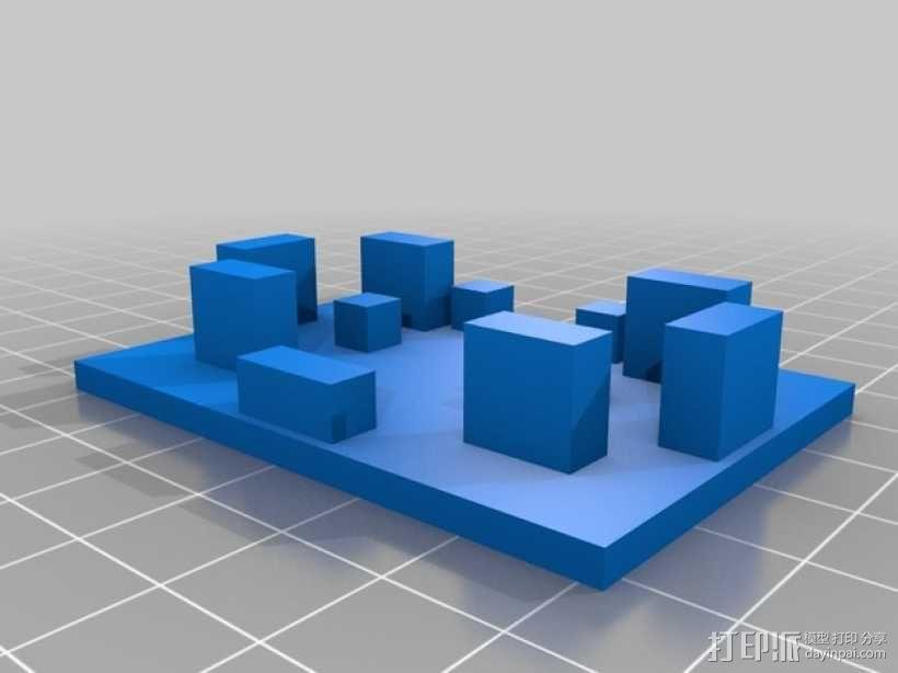 挖掘机履带 3D模型  图3