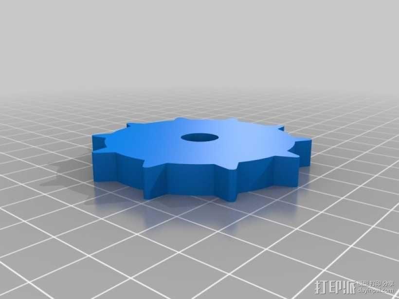 挖掘机履带 3D模型  图2