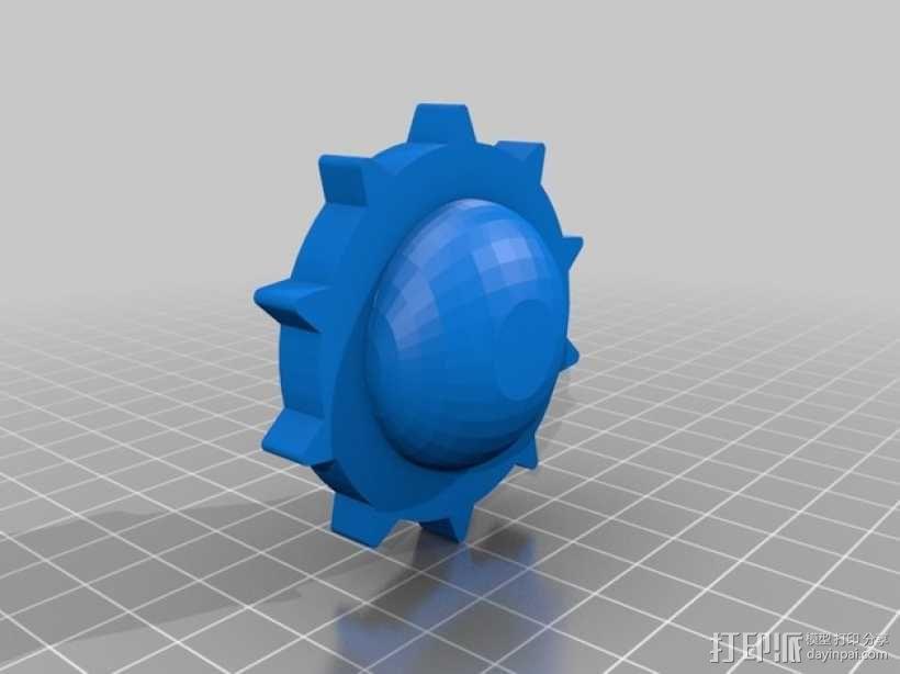 挖掘机履带 3D模型  图6