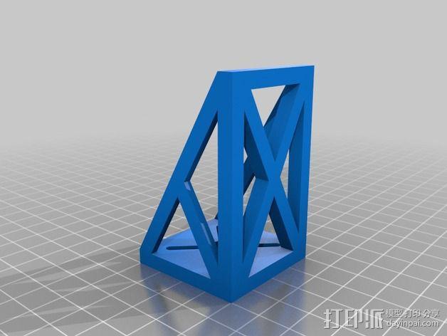 F22马达支架 3D模型  图2