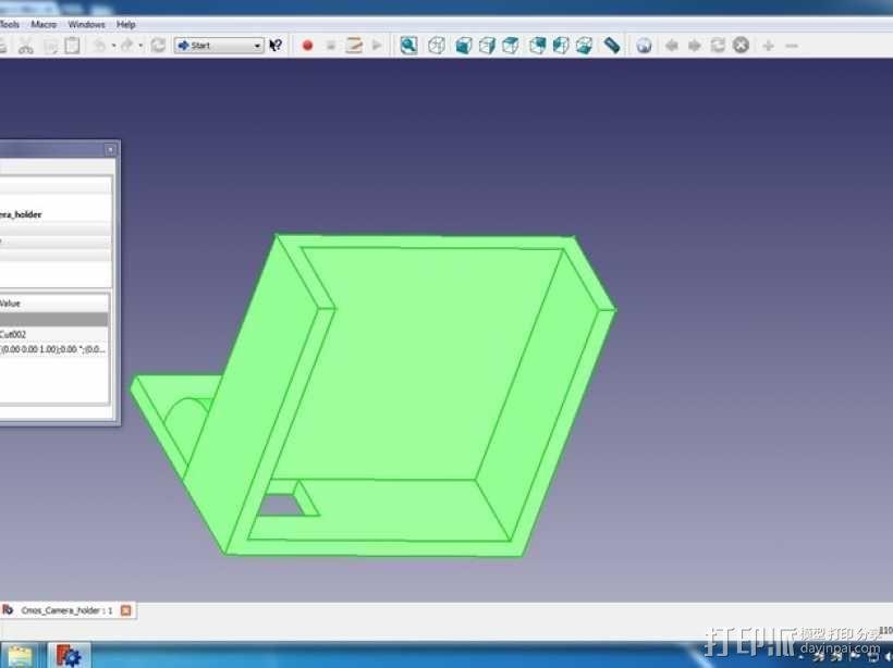 FPV相机支架 3D模型  图3