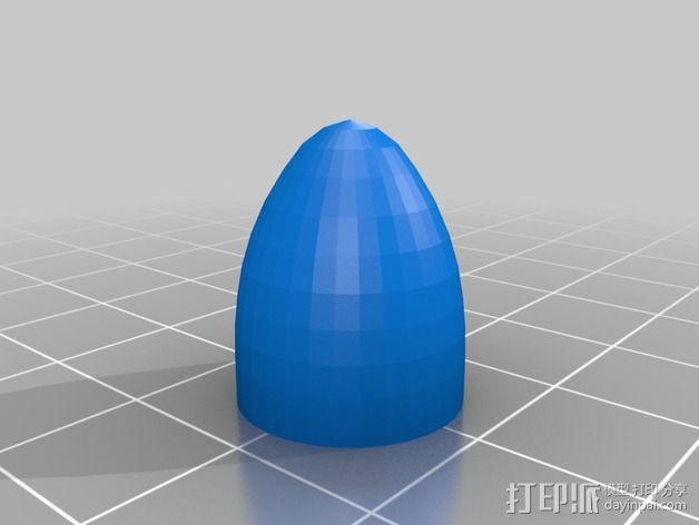 螺旋桨毂盖 3D模型  图2