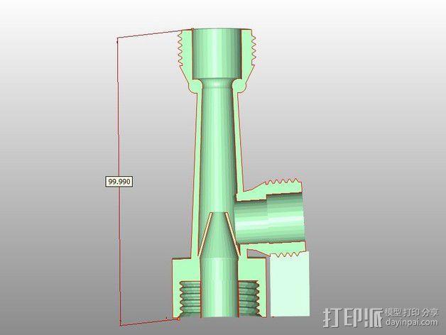 文丘里管 3D模型  图3