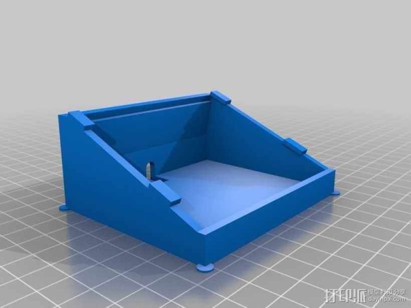 Adafruit LCD显示屏架 3D模型  图1