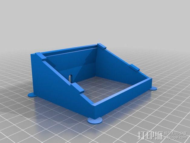Adafruit LCD显示屏架 3D模型  图2