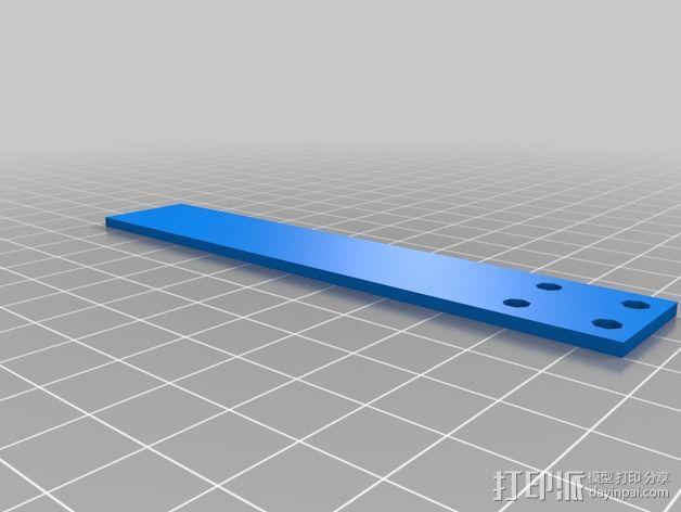 多轴飞行器起落架 3D模型  图4