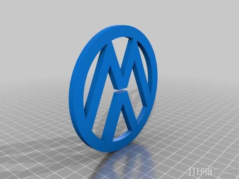 大众汽车 标志 3D模型  图2