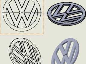 大众汽车 标志 3D模型