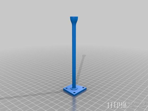F450 GPS模块支架 3D模型  图2