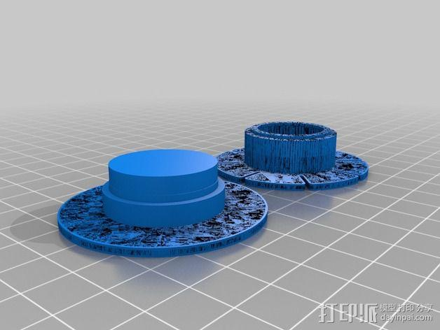 钓鱼线线轴 3D模型  图2