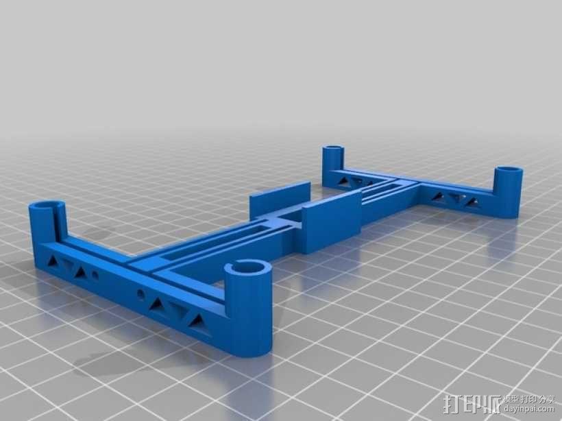四轴飞行器框架 3D模型  图1