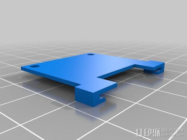 英特尔Galileo主板底座 3D模型  图3