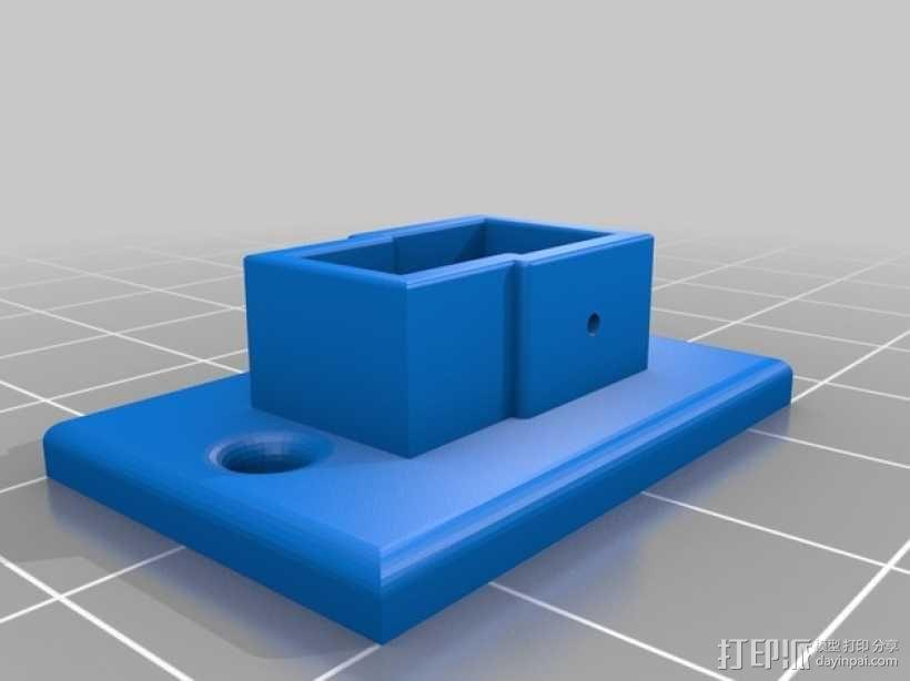 配适器面板 3D模型  图2