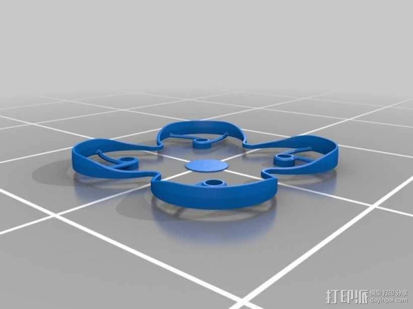 Hubsan四轴飞行器螺旋桨保护架 3D模型  图2
