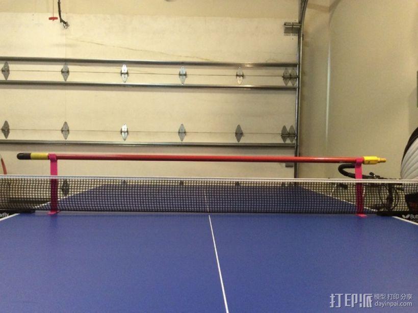 乒乓球桌 训练杆 3D模型  图1