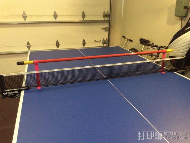 乒乓球桌 训练杆 3D模型  图2