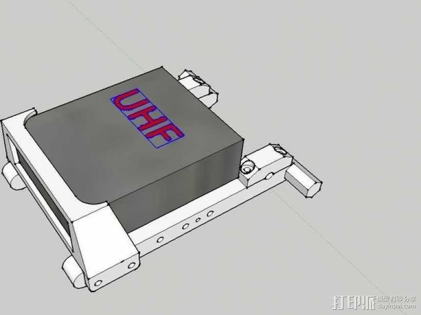 发射机底座 3D模型  图1