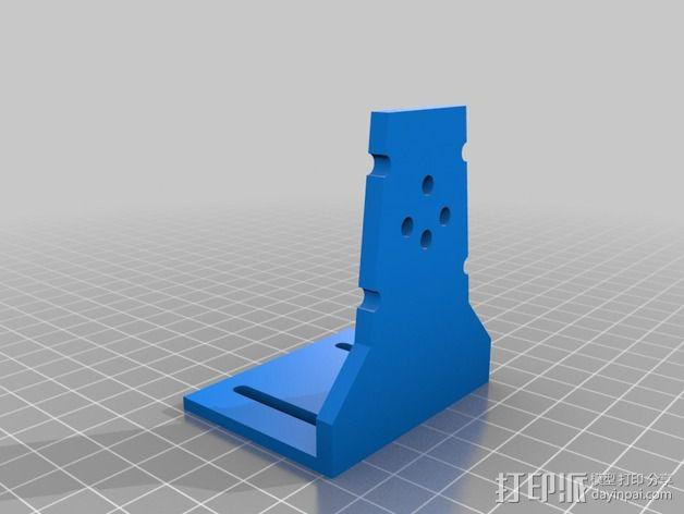 FPV Tx固定槽 3D模型  图3