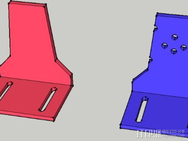 FPV Tx固定槽 3D模型  图5