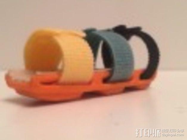 手指夹板 3D模型  图2