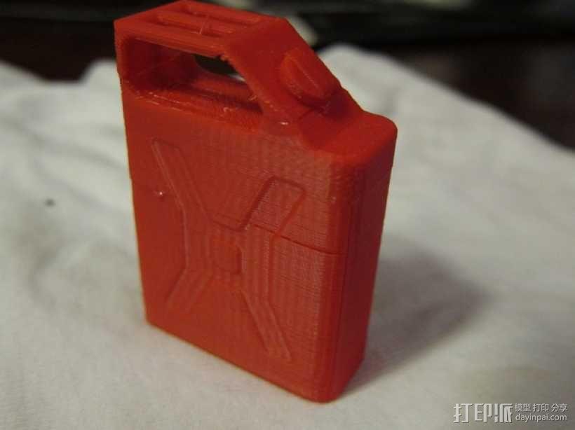 汽油桶 3D模型  图1