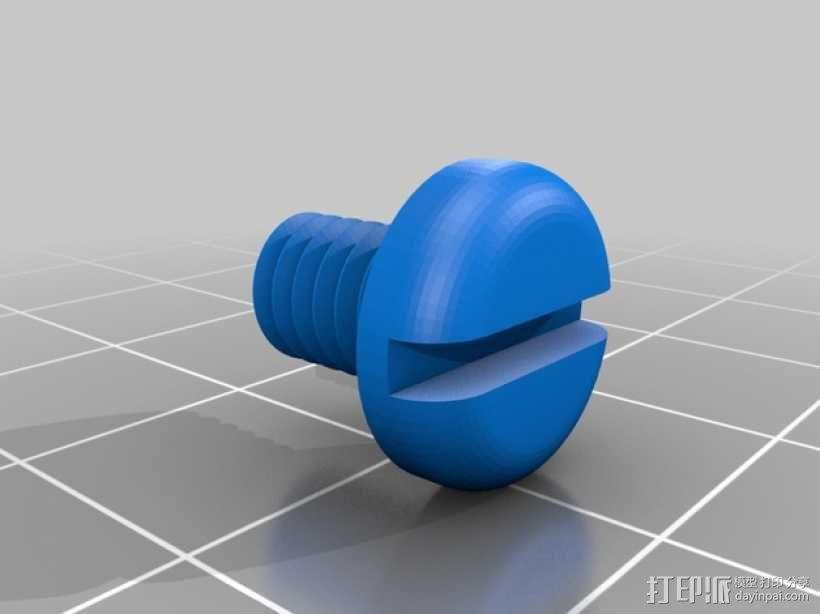 螺母和螺栓  3D模型  图1