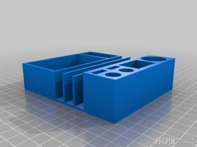 中央控制台底座 3D模型  图2