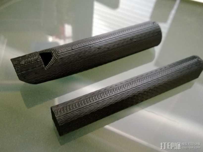溜溜笛 伸缩笛 3D模型  图2