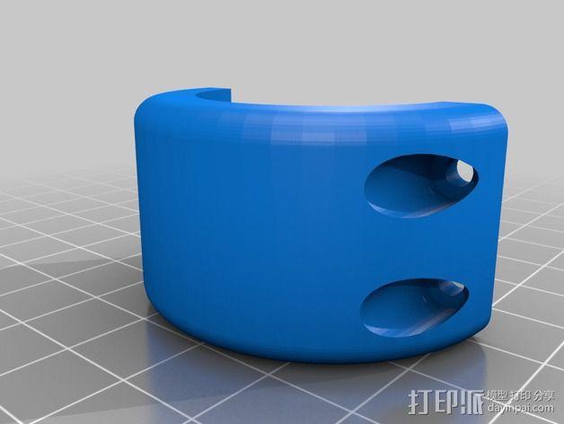 自行车 电筒支架 3D模型  图2