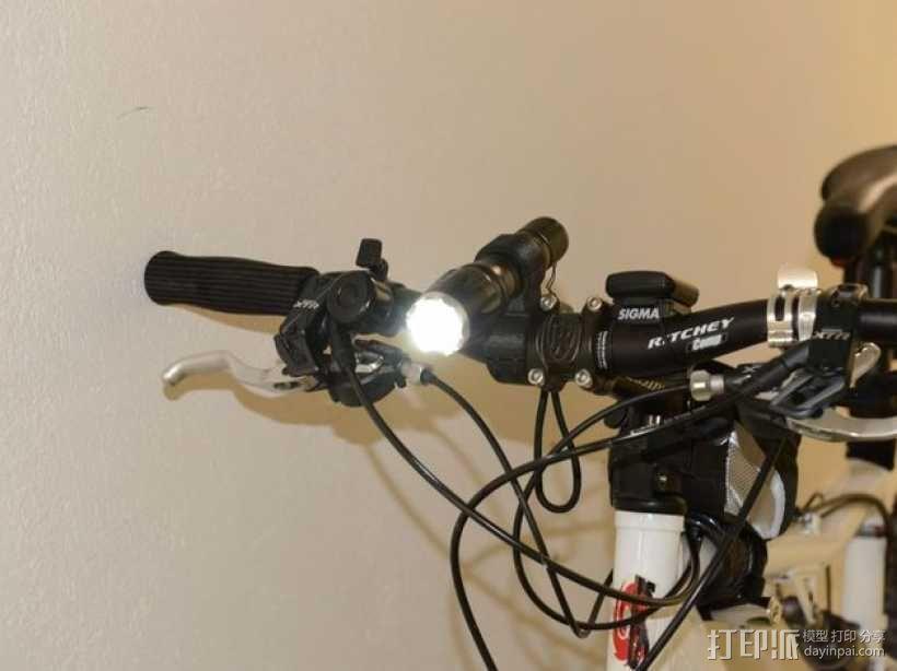 自行车 电筒支架 3D模型  图1