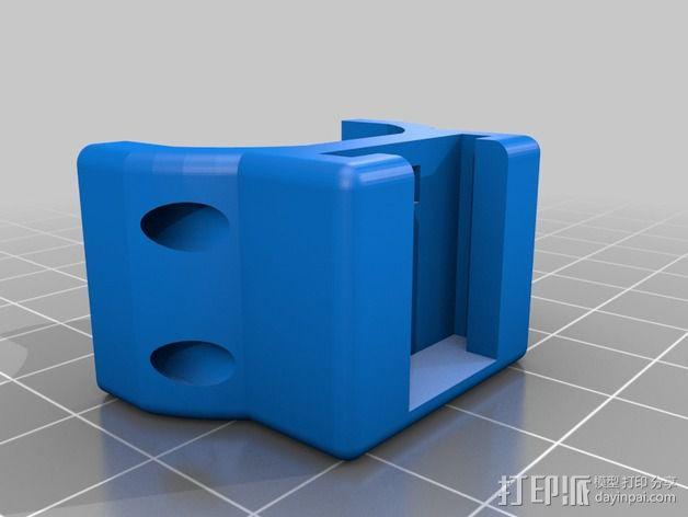 自行车 电筒支架 3D模型  图5