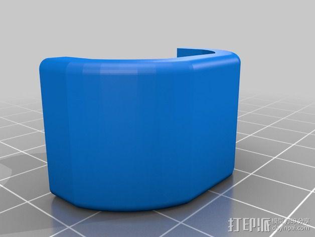 自行车 电筒支架 3D模型  图4