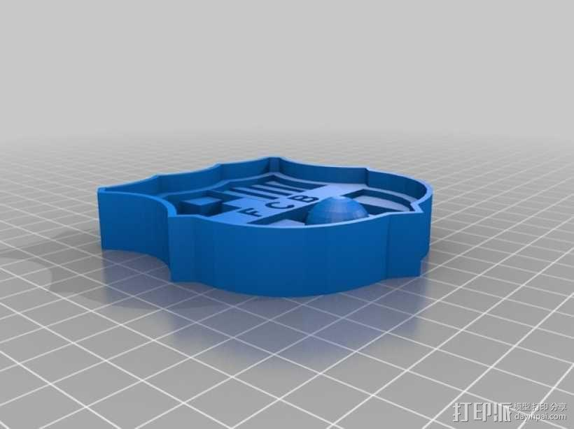 巴塞罗那足球俱乐部 标志 3D模型  图1