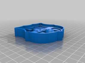 巴塞罗那足球俱乐部 标志 3D模型