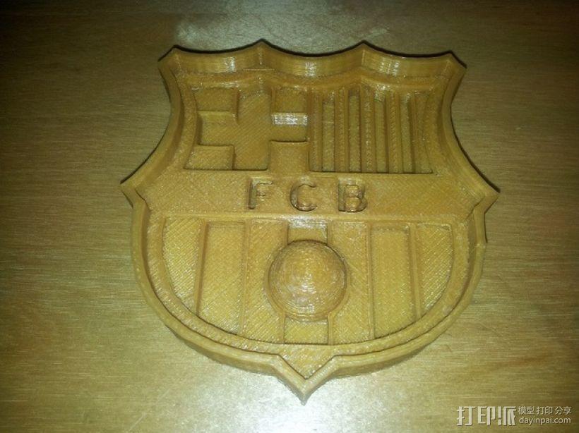 巴塞罗那足球俱乐部 标志 3D模型  图2