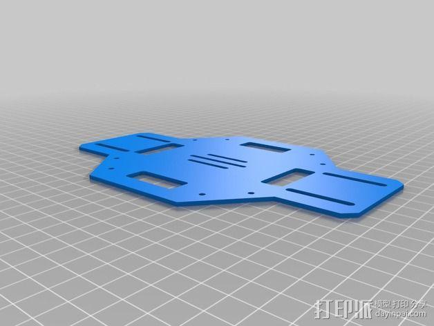 DJI F450多轴飞行器底板 3D模型  图2