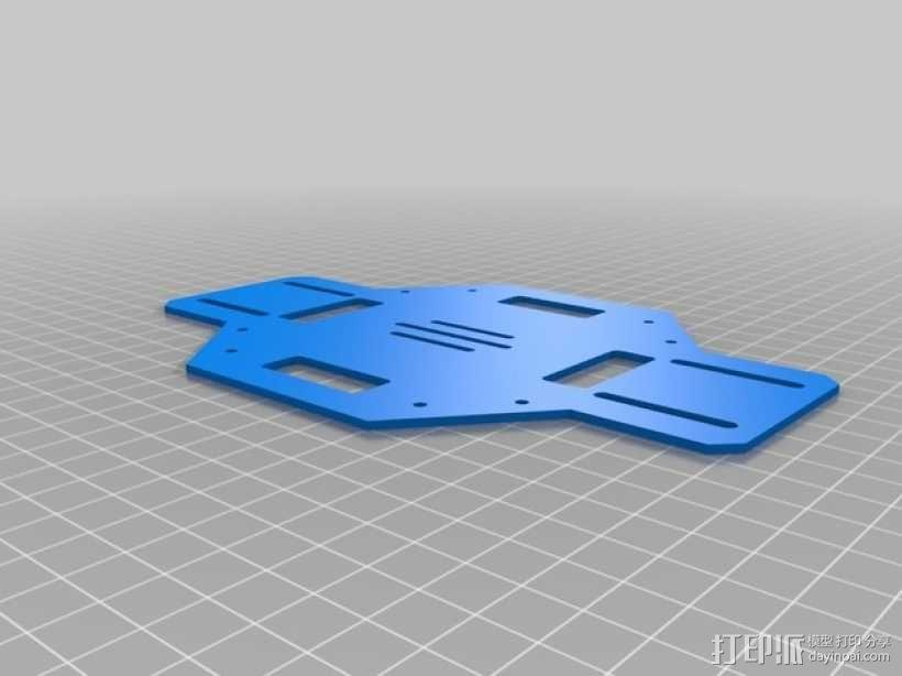 DJI F450多轴飞行器底板 3D模型  图3