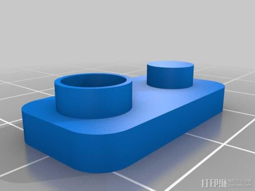 电池帽盖 3D模型  图2