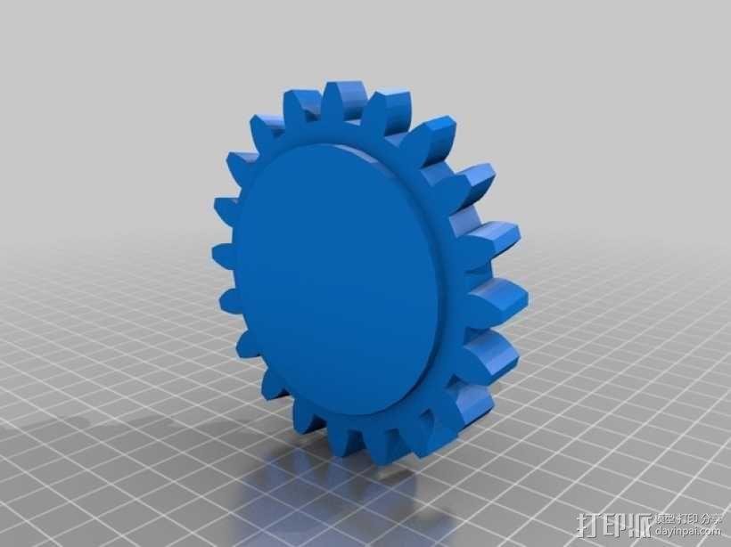 蜗轮蜗杆 3D模型  图2