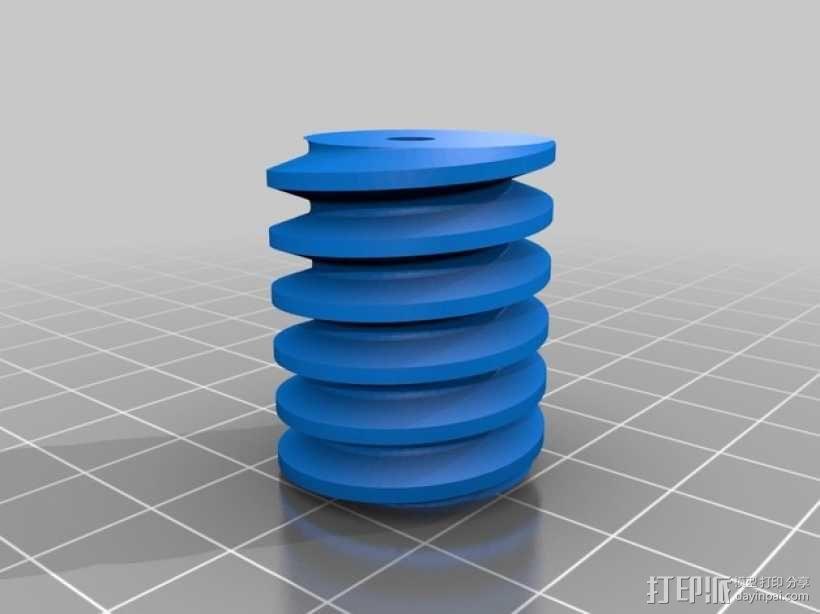 蜗轮蜗杆 3D模型  图4