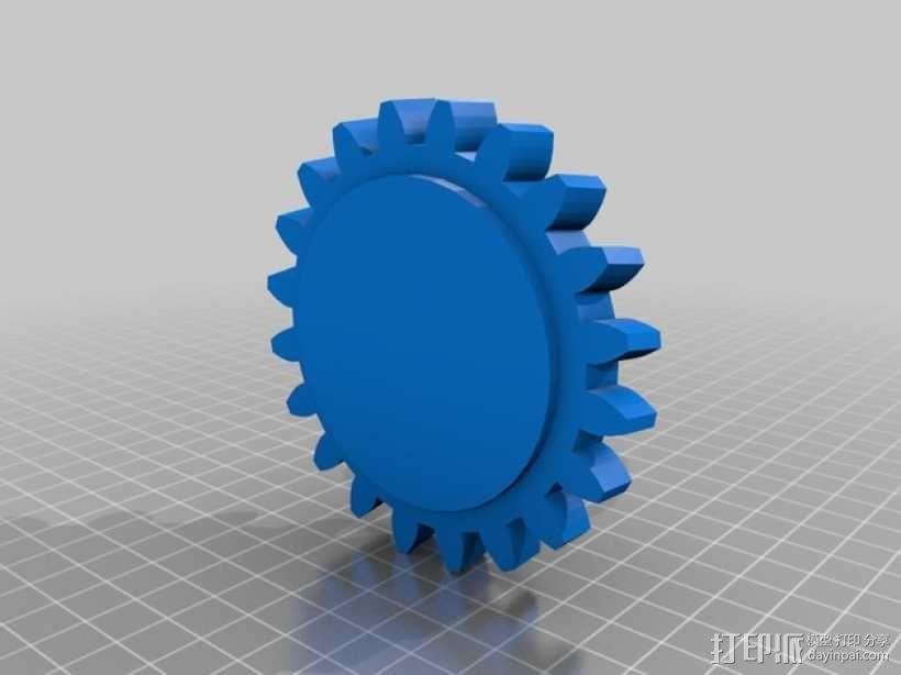 蜗轮蜗杆 3D模型  图3