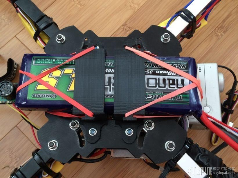 多轴飞行器 电池支架 3D模型  图1