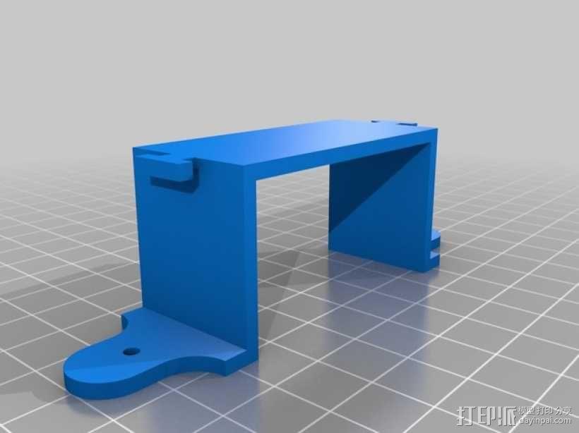多轴飞行器 电池支架 3D模型  图2