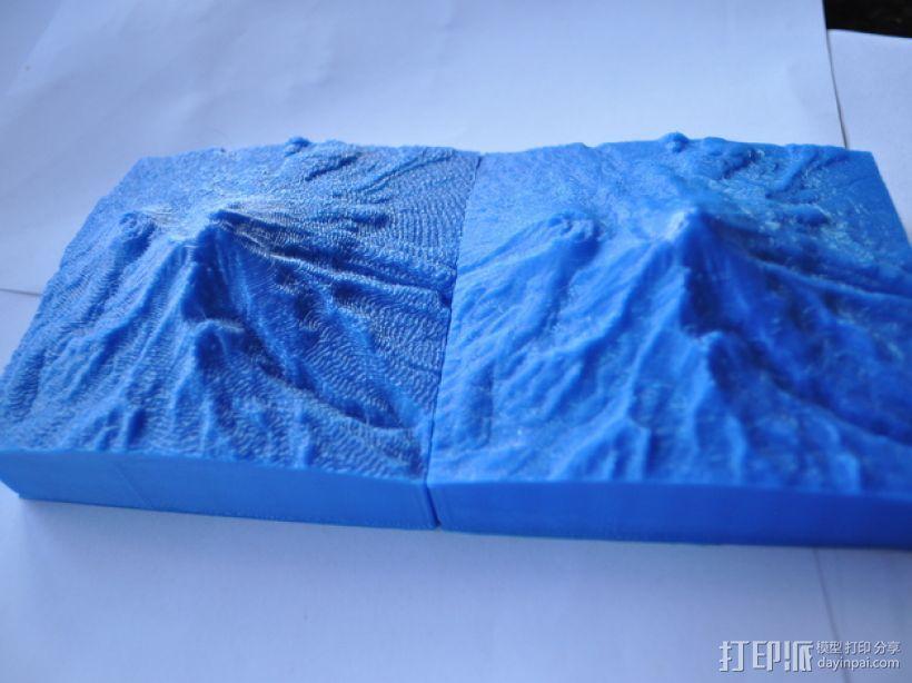 雪士达山  3D模型  图1